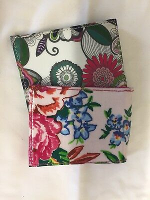 Paperchase x2 Floral Blue Pass Holder Bus Train Student ID Credit Card.