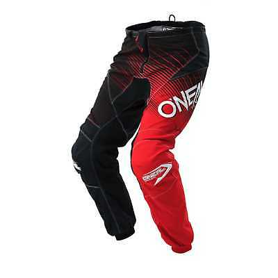 O'Neal-MX Element Youth Pants, Racewear: Black/Red, Size - 12/14