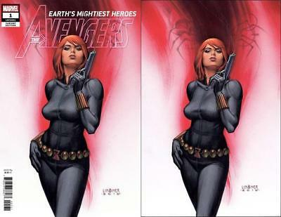 Avengers 1 Marvel Joseph Michael Linsner Variant Virgin Set Black Widow (2018)