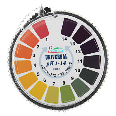 Universal PH Test Strips Roll Full Range 1-14 Indicator Paper Tester Dispenser C