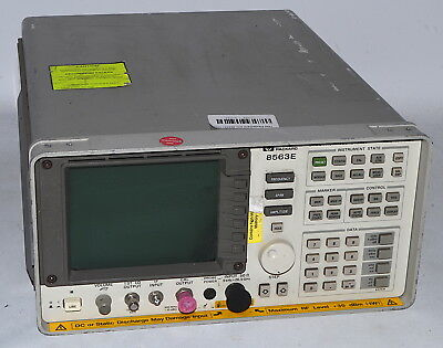 HP 8563E Portable Spectrum Analyzer, 9 kHz to 26.5 GHz *Used* Hewlett Packard