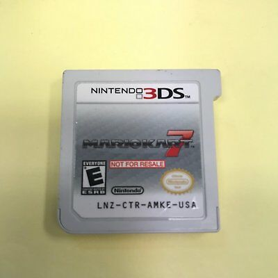 Nintendo 3ds Mario Kart 7 Demo Not For Resale Version Cartridge Only