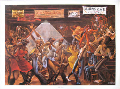 Sugar Shack Lithograph by Ernie Barnes 24inch by 34inch Authentic Lithograph
