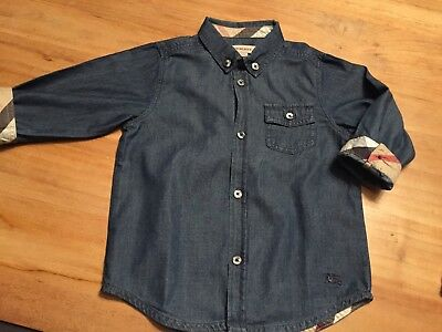 chemise jeans BURBERRY, T.18 mois, TBE