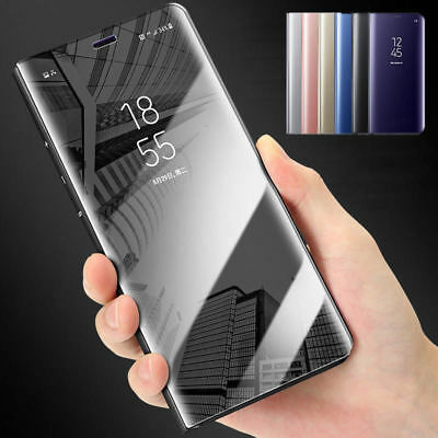 Mirror Clear View Wallet Flip Case Stand Cover For Apple iPhone X 8 7 6s Plus UK