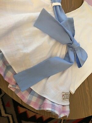 NWOT Wildling Linen Look Layered Cotton Skirt - Gingham and White Sz 4