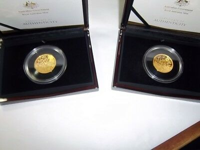 2017 Australia 1 oz $100 Gold Northern Sky Dome Proof & Southern Sky Dome Proof