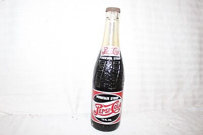 Vintage 1940's Pepsi Cola Double Dot Soda Pop Fountain Syrup Glass Bottle Sign