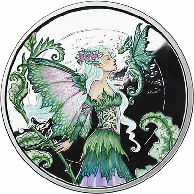 Amy Brown Collection - Discovery Fairy 1 oz .999 Silver Colorized Proof US Round