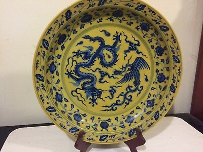 Rare Chinese Porcelain Plate - Marked