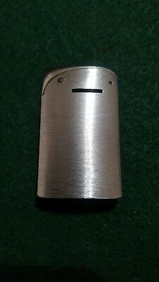 "Vintage 1950s Evans USA 2 1/4"" Tall  Silver Metal Lighter"