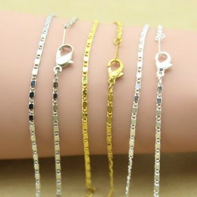 10pcs 42cm Gold Silver Plated Chains Necklace for Pendant DIY Making Finding