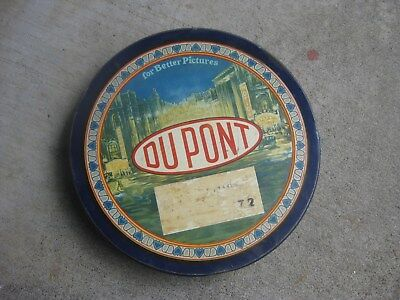 Very Old 1930's DUPONT Film Motion Picture Movie TIN CASE