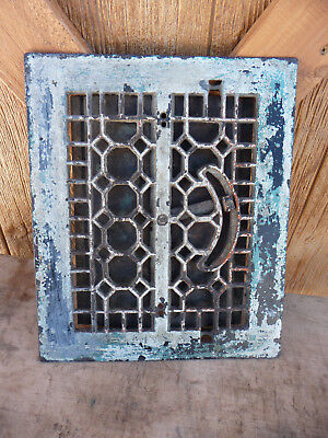 Vintage Victorian Cast Iron Floor Grille Heat Grate Register ID 8x10