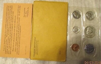 1962  United States Mint Proof Set, 90% Silver With Original Envelope & COA