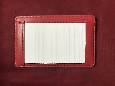 Levenger Leather Pocket Briefcase - RED - Excellent Condition - Pre-Owned