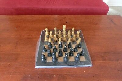 "12"" Chess set fossil made of Marble stone, Handmade, Onyx Stone, and Beautiful"