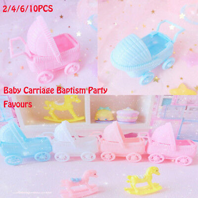 2/4/6/10 Cute Plastic Baby Carriage Baby Shower Christening Baptism Party Favors