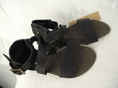 BNWT Older Girls Sz 3 Smart Black Rivers Doghouse Strappy Buckle Sandals