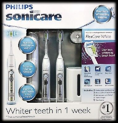 Philips Sonicare Flexcare Premium Edition 2 Pack Rechargeable Toothbrush UV1