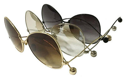 Wholesale Lots 12 Pairs Woman Fashion Over Size Metal Sunglasses 100% UV Protect