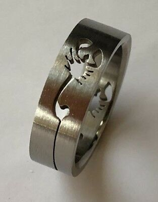 Men Women 316L Stainless Steel Scorpion 6mm Ring Band Size 5 - 10 NEW SS11