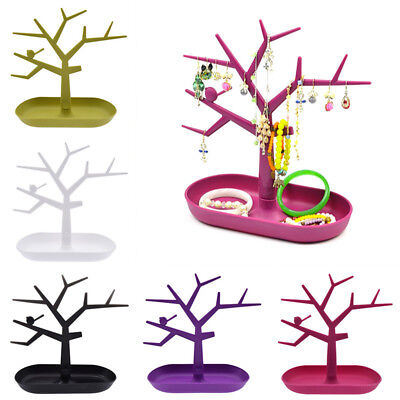 Jewelry Necklace Earring Bracelet Tree Stand Display Organizer Holder Show Rack
