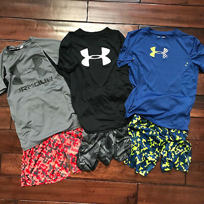 Boys Under Armour lot, Youth Large, Boys Clothes, Under Armour Shirts, Shorts