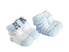 NEW Playette 2 Pack Chenille Bootie Socks 0-3 Months from Baby Barn Discounts
