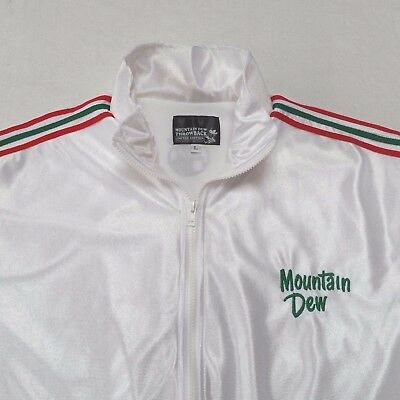 Mountain Dew Throwback Limited Edition White Satin Track Jacket Mens Large