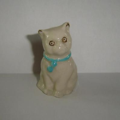 Ightham Stoke On Trent Crested Carlton China Sitting Cat D.p. Vennell The Stores