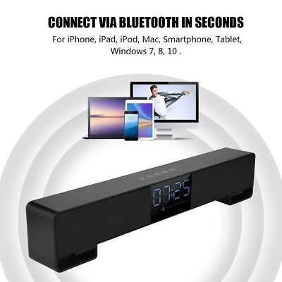 TV Home Theater Bluetooth Sound Bar Speaker System Built-in Subwoofer with Gift