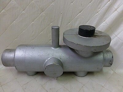 Wood Foundry Casting Mold Pattern Silver Submarine Steampunk Industrial Art 15""