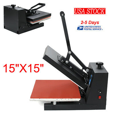 "Fully Digital 15""X15"" Clamshell Heat Press Transfer T-shirt Sublimation Machine"