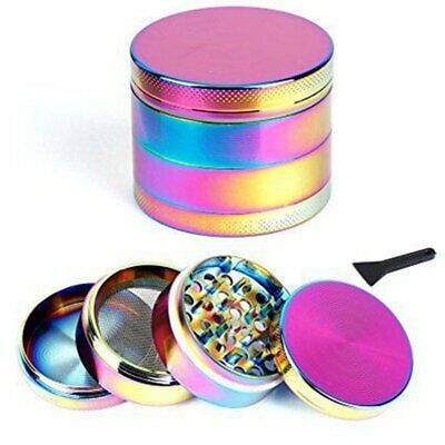 Rainbow Metal Zinc Alloy Tobacco Herb Grinder 4 Layers Hand Muller Smoke Crusher