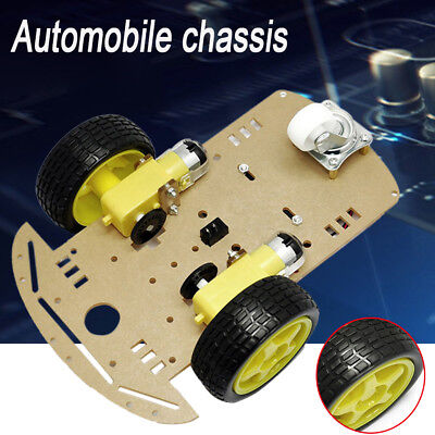 2WD Smart Motor Robot Car Chassis Battery Box Kit Speed Encoder for Arduino HQ