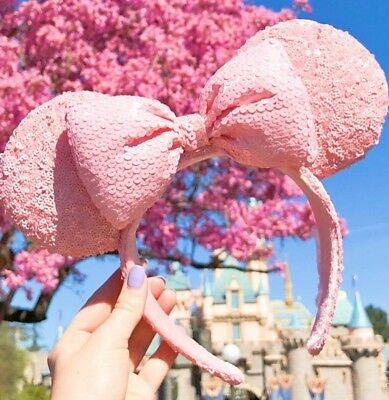 NEW! DISNEYLAND Millennial MINNIE MOUSE PINK EARS HEADBAND 2018 - SOLD OUT