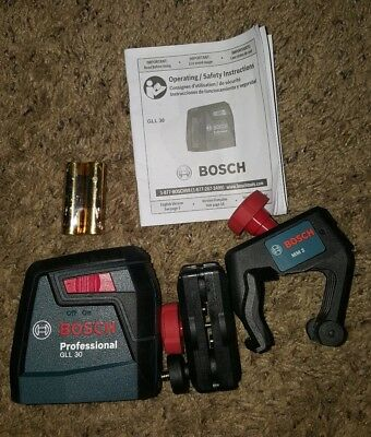 Bosch GLL 2 30 ft. Self-Leveling Cross-Line Laser Level with Clamping Mount
