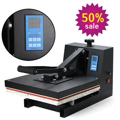 "USA 15""x15"" Digital Clamshell Heat Press Machine Transfer Sublimation T-shirt As"