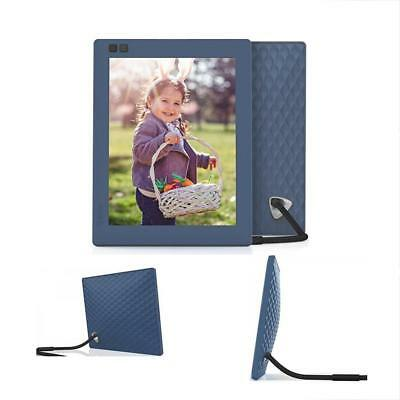 Seed Digital Picture Frames Inch WiFi Photo Blue