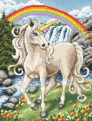 Counted Cross Stitch Pattern Embroidery Chart PDF Unicorn