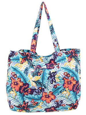 Bag Beach Roxy Large Womens New Gym Tote Overnight Bag Handbag Shoulder Ride Off