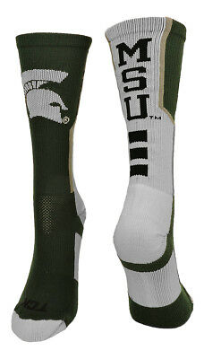 Michigan State University Spartans Perimeter Crew Socks