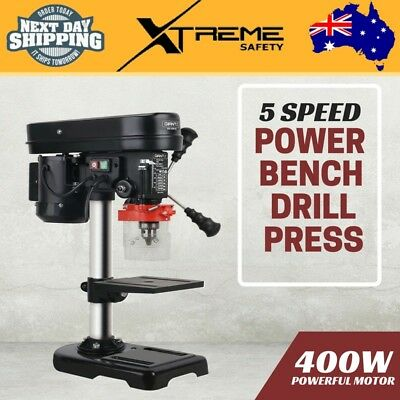 New 5 Speed Power Bench Drill Press 400W 13mm Solid Stainless Steel Chuck