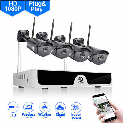 JOOAN Wireless WIFI 4CH 1080P Security System 2MP IP Security Camera NVR Kit