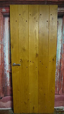 PR6 30 x 75 1/4  Repro quality solid oak studded ledge cottage door in yorkshire