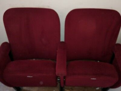 A Row of 2 Cinema Theatre Seats