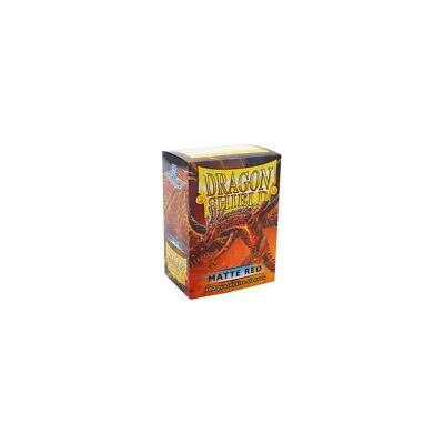 Dragon Shield - Matte Red - 100 bustine protettive
