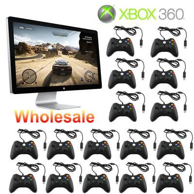 LOT 100 Black Wired USB Game Pad Controller For Microsoft Xbox 360 PC Windows FG