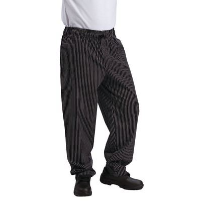 Le Chef Fine Pinstripe Trousers Polycotton Pants